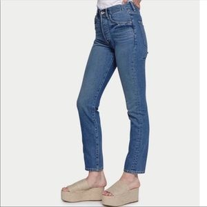EVE denim high rise button fly jeans NWT